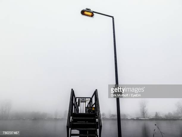 Ship In Foggy Weather Against Sky