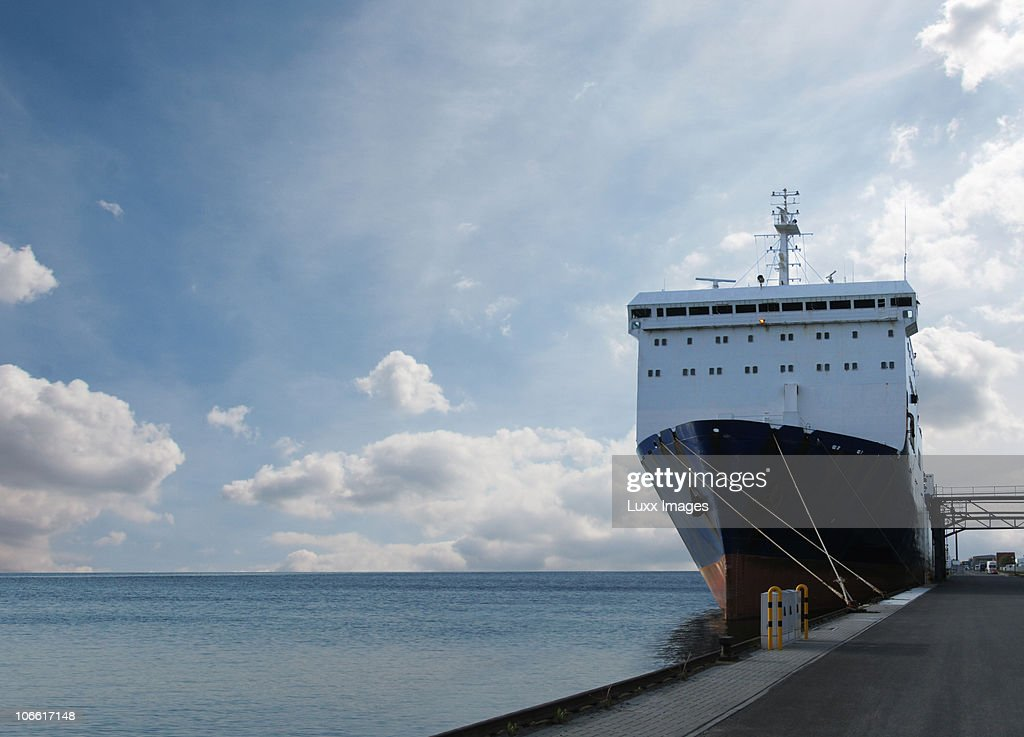 Ship in harbour : Stock Photo