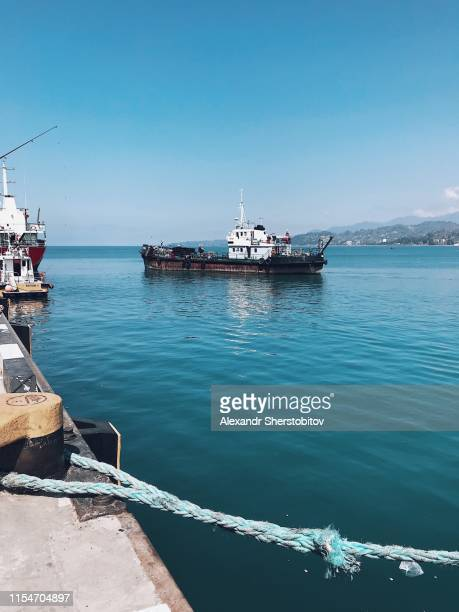 Ship in pier in Batumi city