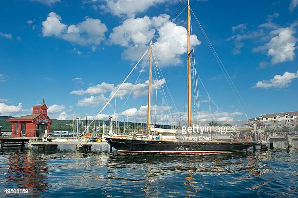 ship in seneca lake - finger lakes stock pictures, royalty-free photos & images