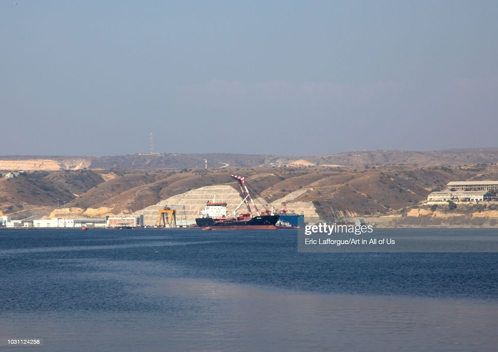 Ship in the harbour, Benguela Province, Lobito, Angola on July 8