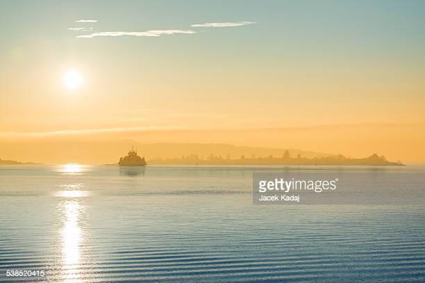 Ship in the Nordic sea