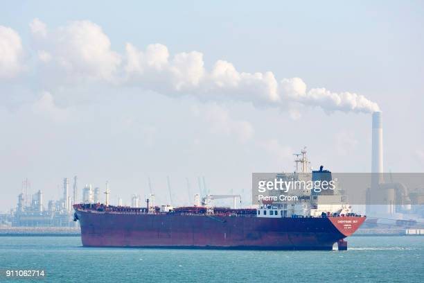 A ship is seen in the Port of Rotterdam the largest port in Europe in Rotterdam on January 27 2018 Entrepreneurs working in the Port of Rotterdam...