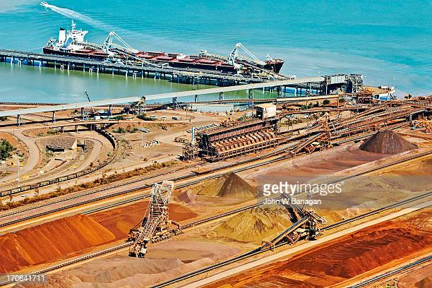 Ship loaded with iron ore, Port Hedland
