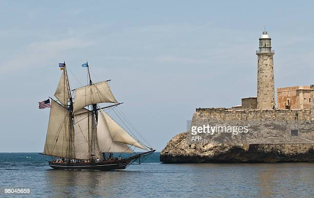 A ship modelled after the famous slavetrading vessel La Amistad on which 53 African slaves revolted in 1839 enters the harbour of Havana on March 25...
