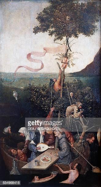 Ship of Fools ca 1494 by Hieronymus Bosch oil on panel cm 58x32 Netherlands Paris Musée Du Louvre