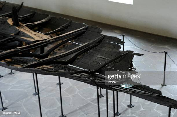 Ship of Tune Vessel of karve type dated in the 900 AD Oak wood Found in Ostfold Norway Viking Ship Museum Oslo Norway