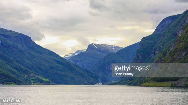 Ship on the Aurlandsfjord, NOrway