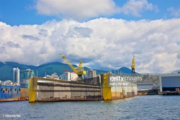 Ship repair dry dock, Vancouver, British Columbia