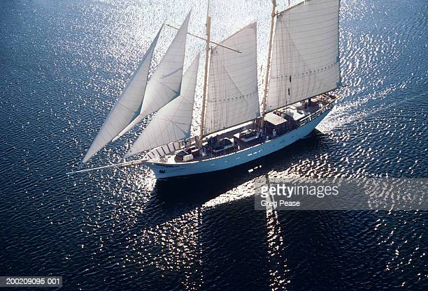 """ship sailing, elevated view - """"greg pease"""" stock pictures, royalty-free photos & images"""