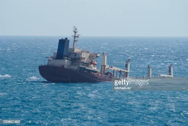 Ship Sinking In Sea