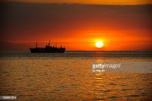 ship st sunset - ken ilio stock photos and pictures