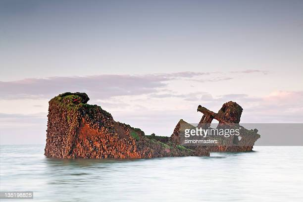 ship wreck - sunken stock pictures, royalty-free photos & images