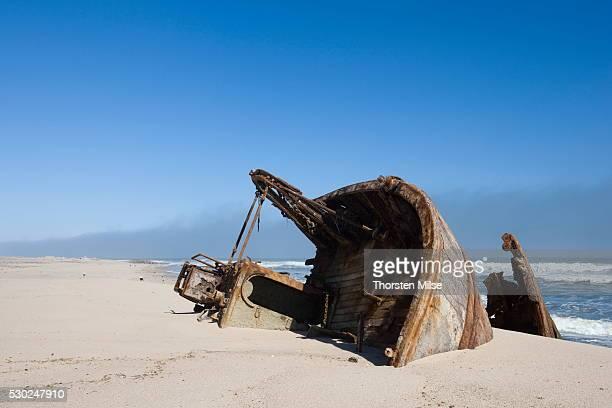 Ship wreck, Skeleton Coast, Namibia, Africa