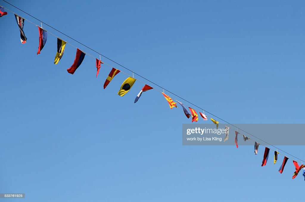 Shipboard Nautical Flags : Foto stock