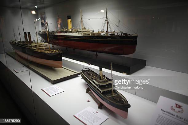Shipbuilders models of ships on display at Liverpool Maritime Museum on February 9 2012 in Liverpool England The maritime city of Liverpool has seven...