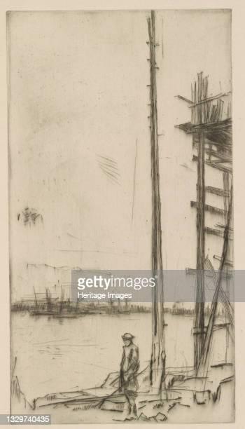 Shipbuilder's Yard, Liverpool, 1875. Artist James Abbott McNeill Whistler.