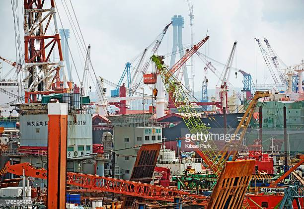 Shipbuilding and repairing yards in Pusan, second largest metropolis after Seoul in South Korea, with a population of around 3.6 million, as of 2010....