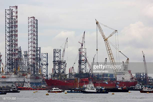 Shipbuilding yard, Singapore.