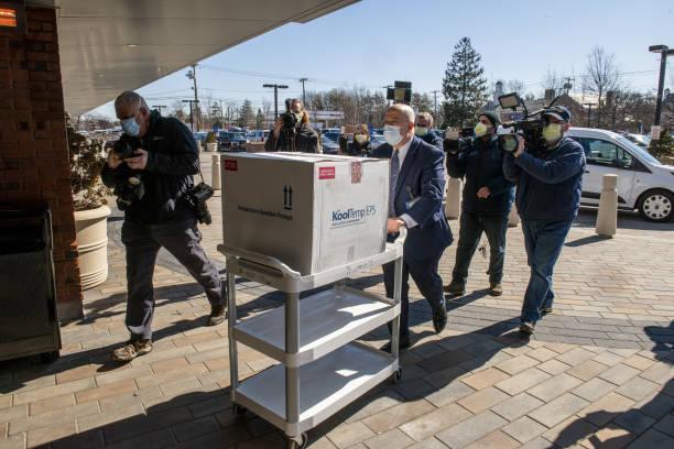NY: Johnson & Johnson Covid-19 Vaccines Arrive At Northwell Health Hospital