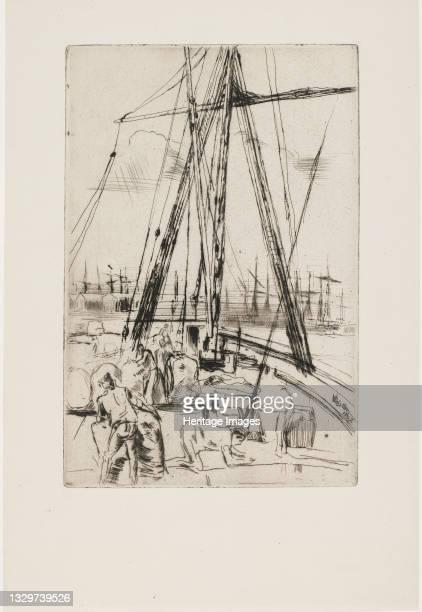 Shipping at Liverpool, 1867. Artist James Abbott McNeill Whistler.