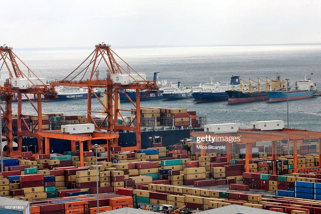 Syriza Government Hampers Expansion Of Chinese Run Port Of Pireaus : News Photo
