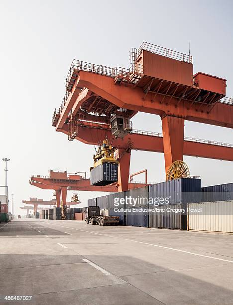 Shipping container loading facility, Xi'an, Shaanxi, China