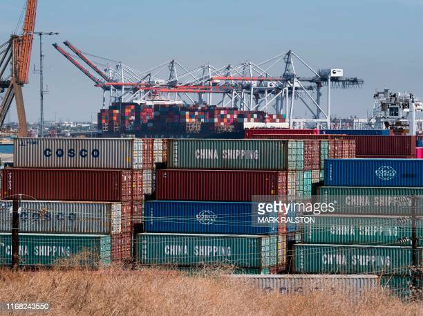 Shipping containers from China and other Asian countries are unloaded at the Port of Los Angeles as the trade war continues between China and the US...