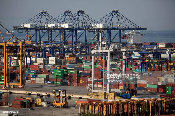 Shipping containers from COSCO Pacific Ltd AP MoellerMaersk A/S CMA CGM SA Yang Ming Marine Transport Corp and Evergreen Marine Corp Taiwan Ltd are...