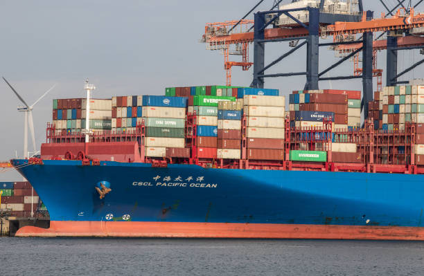 NLD: Container Shipping at Rotterdam Port as Global Congestion Rates Increase