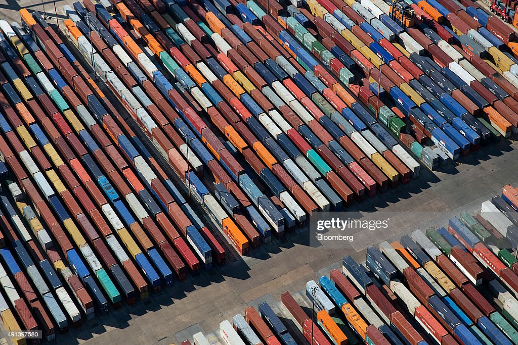 Aerial Views Of Operations At DP World Ltd Container Terminal - Six continents of the world