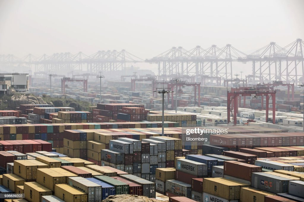 Views of the Yangshan Free Trade Port as US-China Trade War Finally Arrives