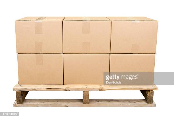 Shipping Pallet With Six Boxes