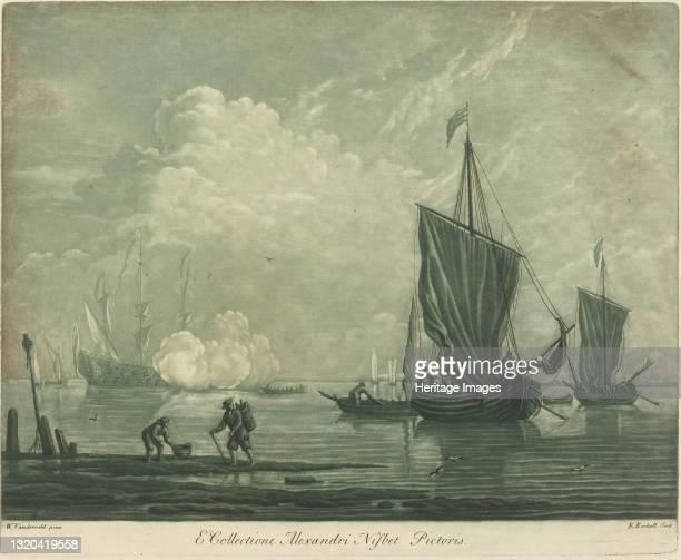 Shipping Scene from the Collection of Alexander Nisbit, 1720s. Artist Elisha Kirkall.