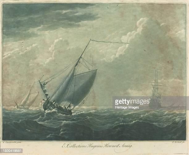 Shipping Scene from the Collection of Hugo Howard, 1720s. Artist Elisha Kirkall.