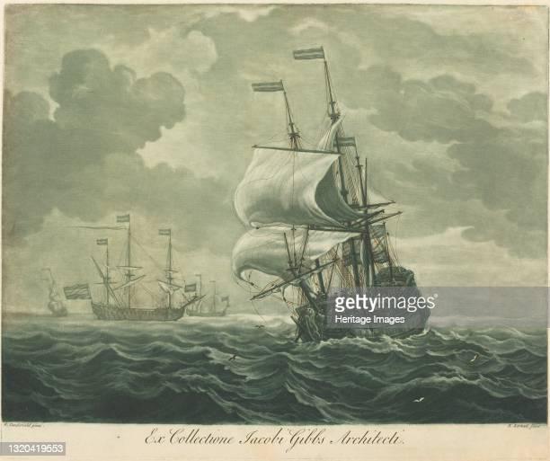 Shipping Scene from the Collection of Jacob Gibbs, 1720s. Artist Elisha Kirkall.