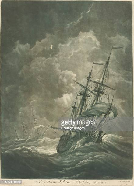 Shipping Scene from the Collection of John Chicheley, 1720s. Artist Elisha Kirkall.