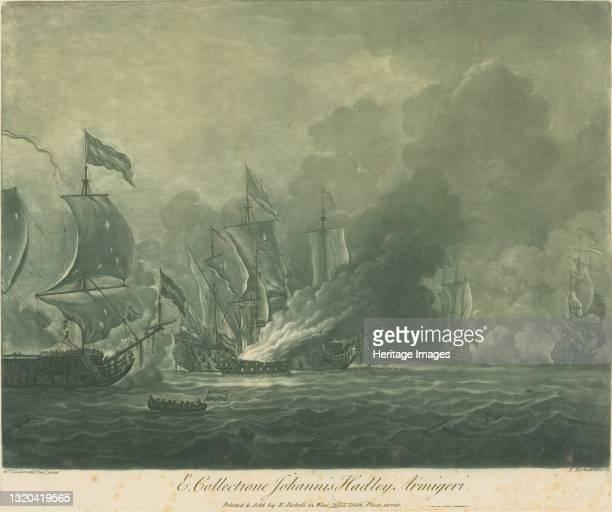 Shipping Scene from the Collection of John Hadley, 1720s. Artist Elisha Kirkall.