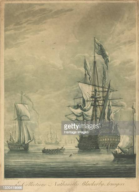 Shipping Scene from the Collection of Nathaniel Blackerby, 1720s. Artist Elisha Kirkall.
