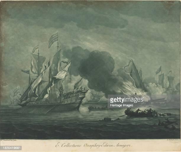 Shipping Scene from the Collection of Onuphrij Edwin, 1720s. Artist Elisha Kirkall.