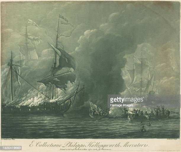 Shipping Scene from the Collection of Philip Hollingworth, 1720s. Artist Elisha Kirkall.