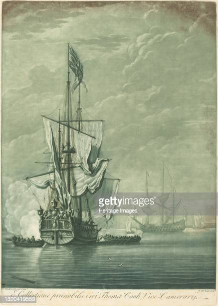 Shipping Scene from the Collection of Thomas Cook, 1720s. Artist Elisha Kirkall.
