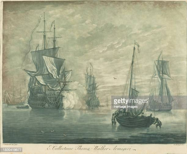 Shipping Scene from the Collection of Thomas Walker, 1720s. Artist Elisha Kirkall.