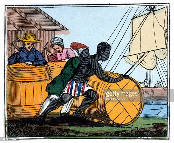 'Shipping the Casks' 1826 From 'The Black Man's Lament or How to Make Sugar' by Amelia Opie