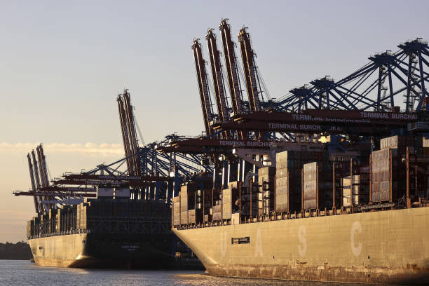 DEU: Container Shipping Operations At the Port Of Hamburg