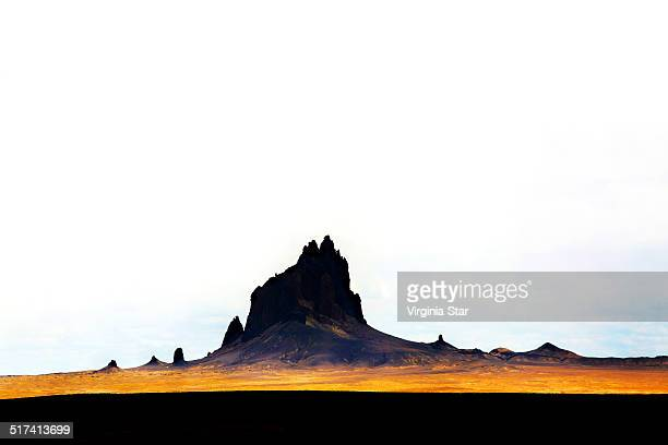 shiprock new mexico - shiprock stock photos and pictures