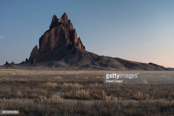 shiprock,  new mexico, usa - shiprock stock photos and pictures