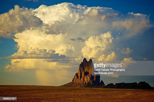 shiprock vs. thunderhead - shiprock stock photos and pictures