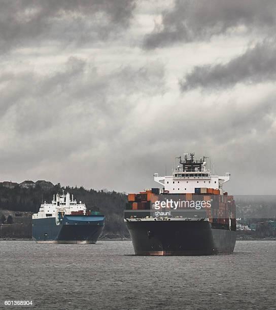 Ships Await Berths