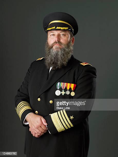 ship's captain - 軍服 ストックフォトと画像